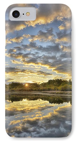 Sunrise On The Deschutes IPhone Case by Christian Heeb