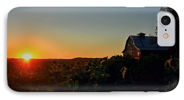 IPhone Case featuring the photograph Sunrise On The Farm by Chris Berry