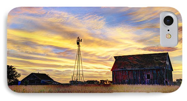 Sunrise On The Farm IPhone Case by Jean Hutchison