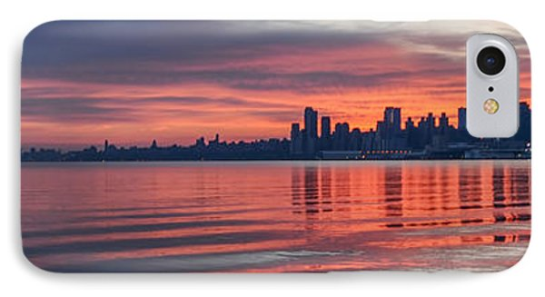 Sunrise On The Hudson River IPhone Case by Bill Cannon