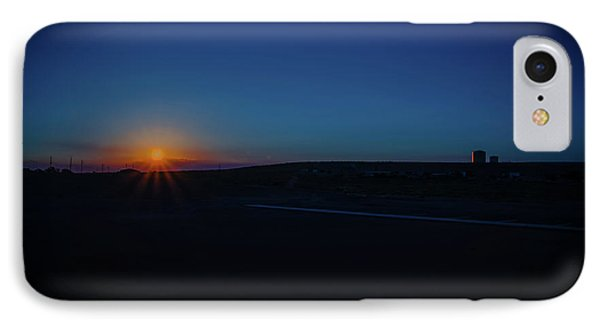Sunrise On The Reservation IPhone Case by Mark Dunton