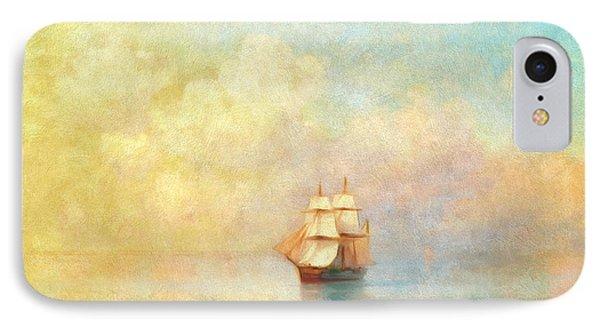 Boat iPhone 7 Case - Sunrise On The Sea by Georgiana Romanovna