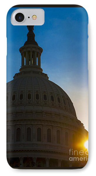 Sunrise On The United States Capitol Building  IPhone Case by Diane Diederich