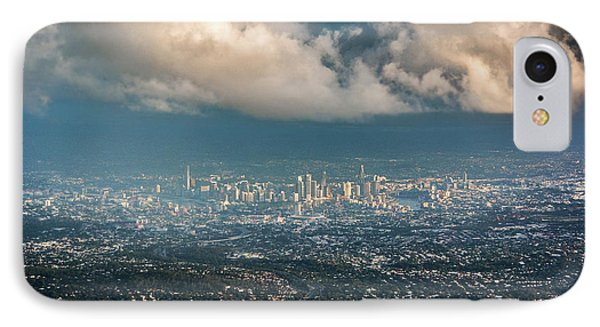 IPhone Case featuring the photograph Sunrise Over A Cloudy Brisbane by Parker Cunningham
