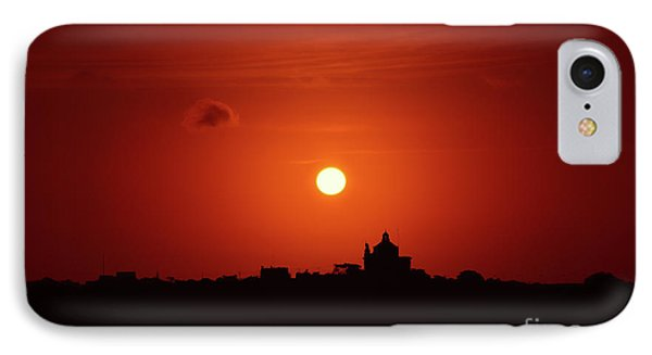 Sunrise Over A Small Town IPhone Case by Stephan Grixti