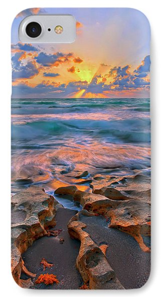 Sunrise Over Carlin Park In Jupiter Florida IPhone Case by Justin Kelefas