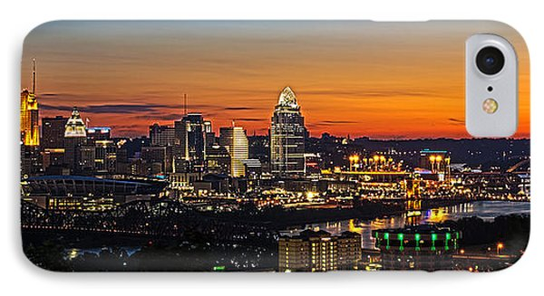 Sunrise Over Cincinnati Phone Case by Keith Allen