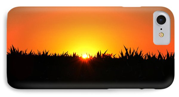 Sunrise Over Corn Field Phone Case by Bill Cannon