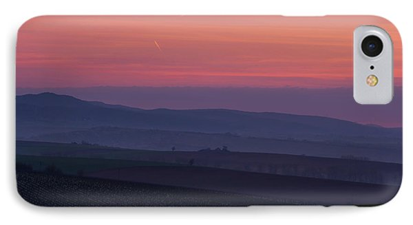 IPhone Case featuring the photograph Sunrise Over Hills Of Moravian Tuscany by Jenny Rainbow