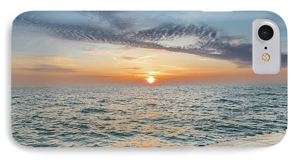 IPhone Case featuring the photograph Sunrise Over Lake Michigan by Peter Ciro