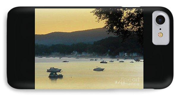 Sunrise Over Malletts Bay Panorama - Nine V2 Detail IPhone Case by Felipe Adan Lerma