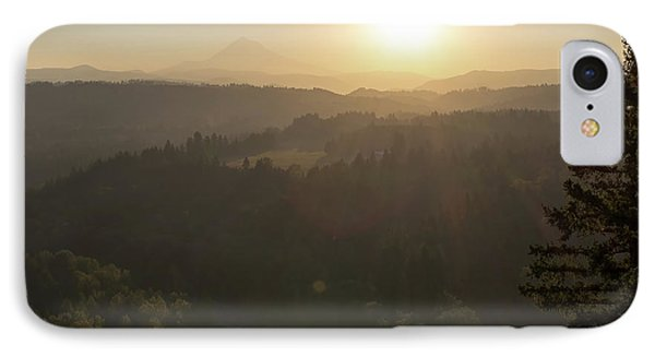 Sunrise Over Mount Hood And Sandy River Phone Case by David Gn