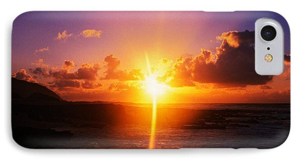 Sunrise Over Ocean, Sandy Beach Park IPhone Case by Panoramic Images