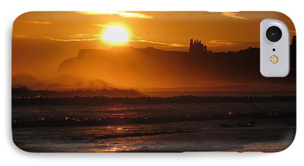 IPhone Case featuring the photograph Sunrise Over Sandsend Beach by RKAB Works