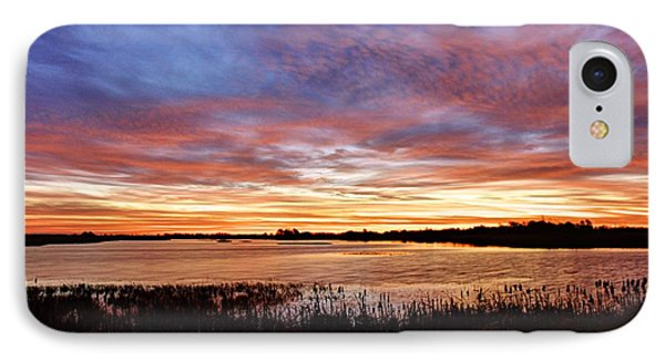 IPhone Case featuring the photograph Sunrise Over The Marsh by Larry Ricker