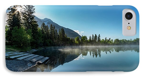 IPhone Case featuring the photograph Sunrise Over The Mountain And Through The Tree by Darcy Michaelchuk