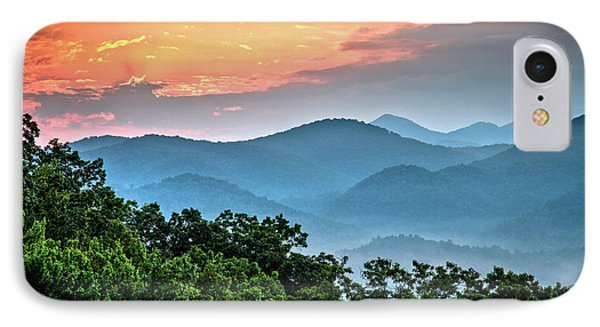 IPhone Case featuring the photograph Sunrise Over The Smoky's by Douglas Stucky