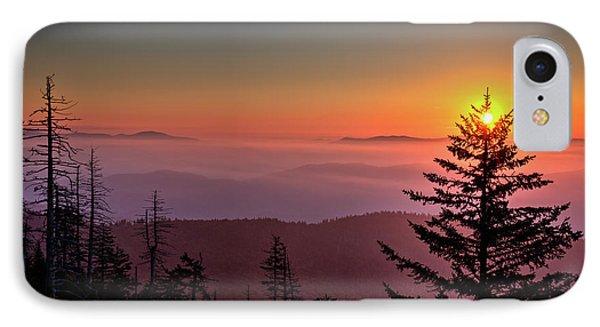 IPhone Case featuring the photograph Sunrise Over The Smoky's IIi by Douglas Stucky