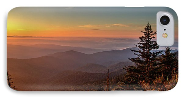 IPhone Case featuring the photograph Sunrise Over The Smoky's V by Douglas Stucky
