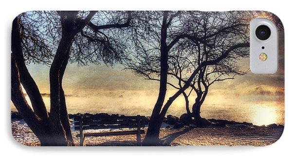 Sunrise Over Whaleback Lighthouse - New Castle, Nh IPhone Case by Joann Vitali
