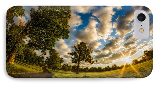IPhone Case featuring the photograph Sunrise Path At Meadows Edge by Chris Bordeleau