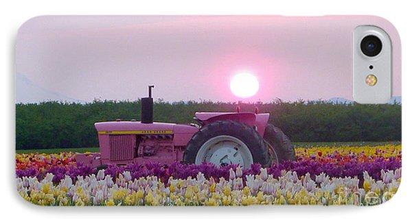 Sunrise Pink Greets John Deere Tractor IPhone Case