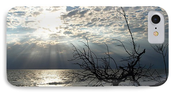 Sunrise Prayer On The Beach Phone Case by Allan  Hughes