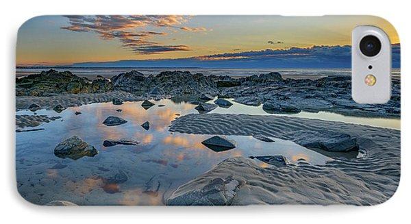Sunrise Reflections On Wells Beach IPhone Case by Rick Berk