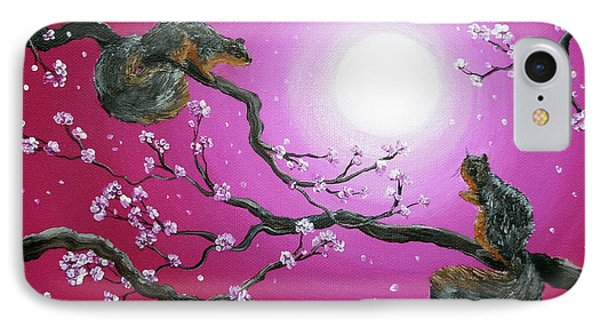 Sunrise Squirrels Phone Case by Laura Iverson