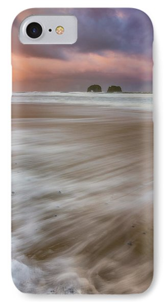 IPhone Case featuring the photograph Sunrise Storm At Twin Rocks by Darren White