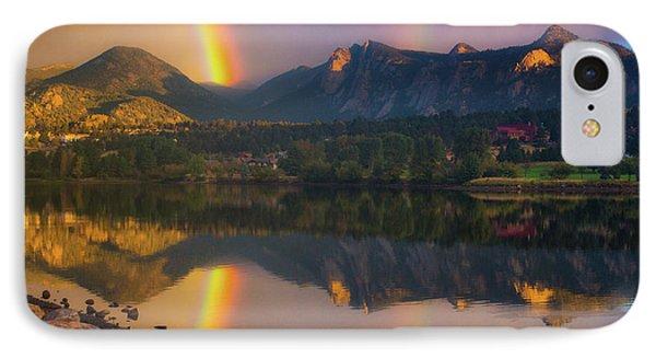 Sunrise Summer Rainbow In Colorado IPhone Case by John De Bord