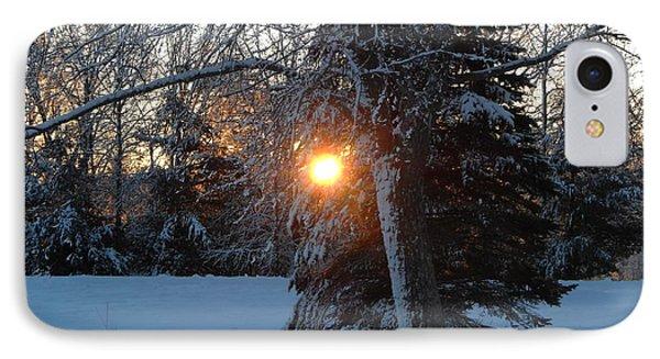 Sunrise Through Branches IPhone Case