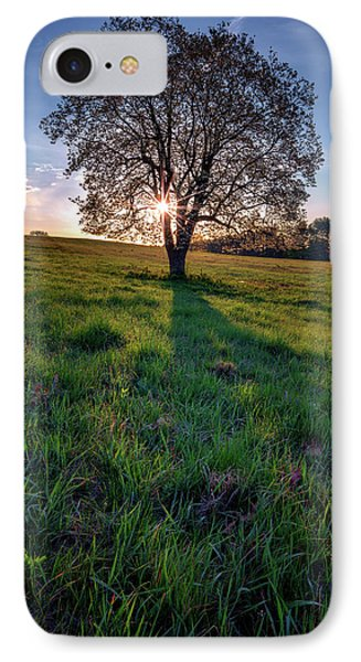 Sunrise Through The Tree IPhone Case by Rick Berk
