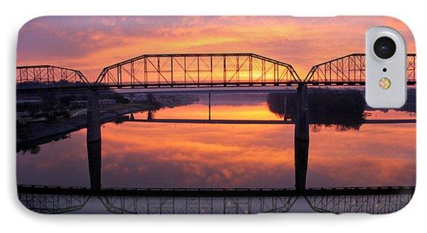 Sunrise Walnut Street Bridge 2 Phone Case by Tom and Pat Cory