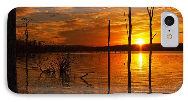 sunset @ Reservoir Phone Case by Angel Cher