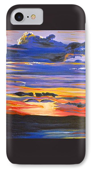 IPhone Case featuring the painting Sunset #5 by Donna Blossom