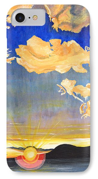 IPhone Case featuring the painting Sunset #6 by Donna Blossom
