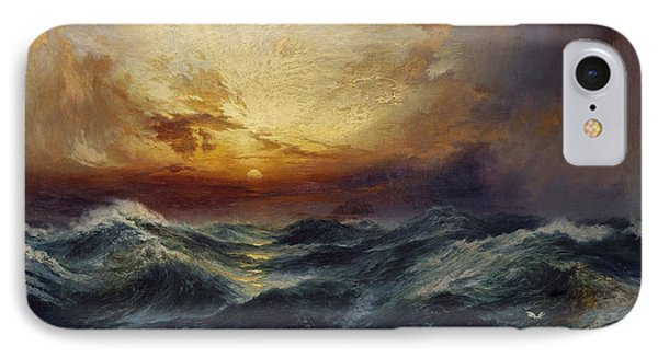 Sunset After A Storm IPhone Case by Thomas Moran