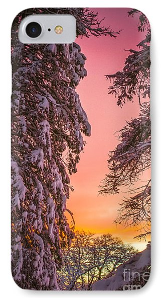 Sunset After Snow IPhone Case by Mike Ste Marie