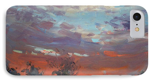 Sunset After Thunderstorm IPhone Case by Ylli Haruni