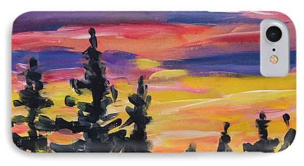 IPhone Case featuring the painting Sunset Alaska by Yulia Kazansky