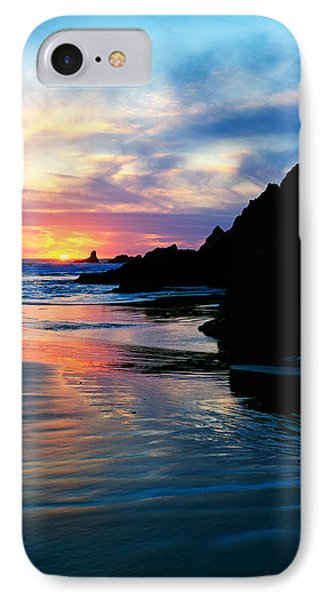 Sunset And Clouds Over Crescent Beach IPhone Case by Panoramic Images