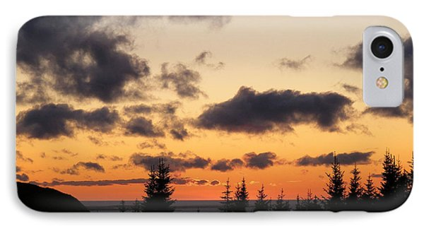IPhone Case featuring the photograph Sunset And Dark Clouds by Barbara Griffin