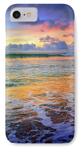 IPhone Case featuring the photograph Sunset And Sea Foam by Tara Turner