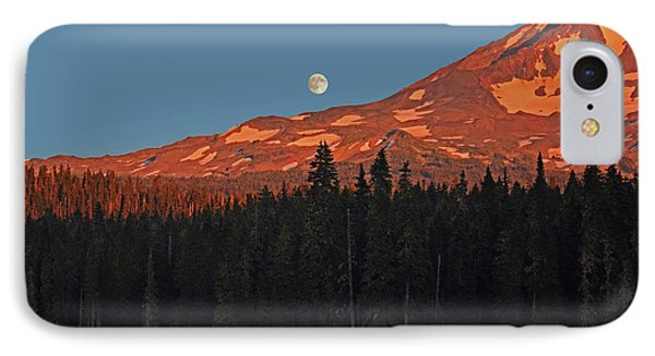 IPhone Case featuring the photograph Sunset And Sunrise At Mt Adams by Jack Moskovita
