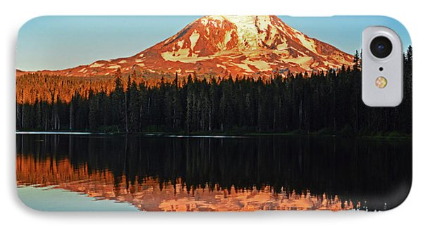 IPhone Case featuring the photograph Sunset And Sunrise Mt Adams by Jack Moskovita