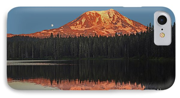 IPhone Case featuring the photograph Sunset And Moonrise At Takhlakh Lake by Jack Moskovita
