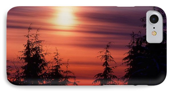 Sunset And Trees Two  IPhone Case