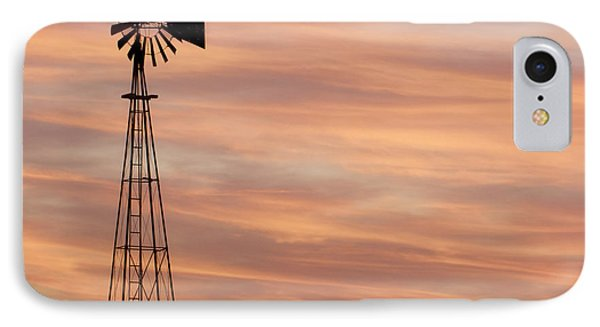 Sunset And Windmill 05 IPhone Case