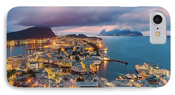 Sunset At Alesund, Norway IPhone Case by Henk Meijer Photography
